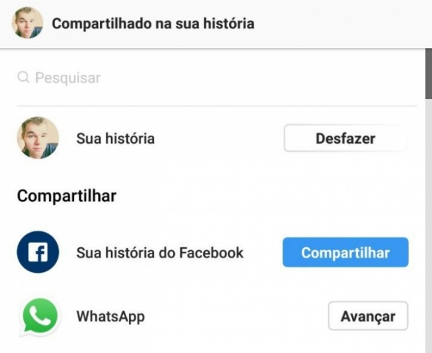 Instagram testa compartilhamento de Stories pelo WhatsApp